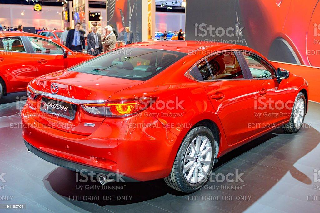 Mazda 6 sedan car stock photo