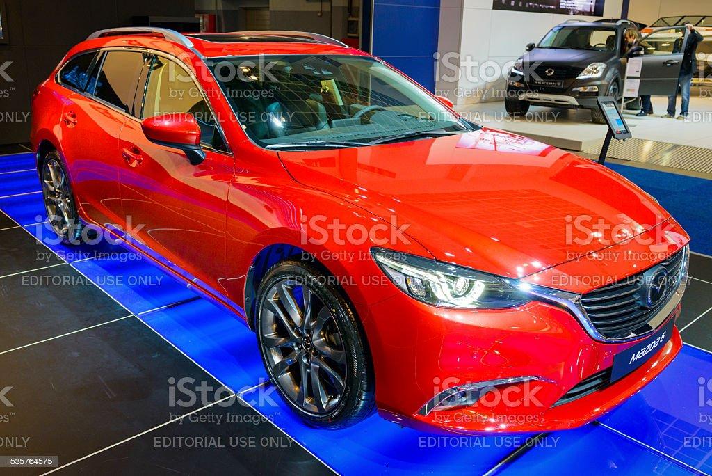 Mazda 6 Tourer station wagon stock photo