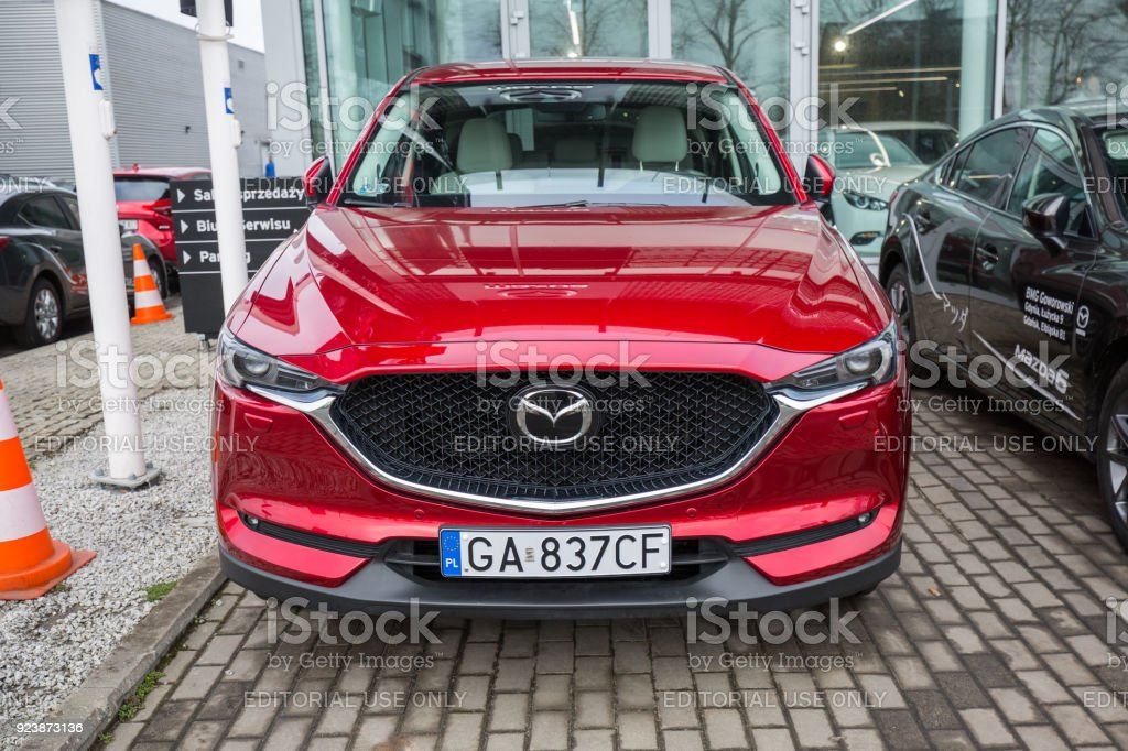 Mazda Cx In The Car Showroom Of Gdansk Stock Photo More Pictures - Car showroom