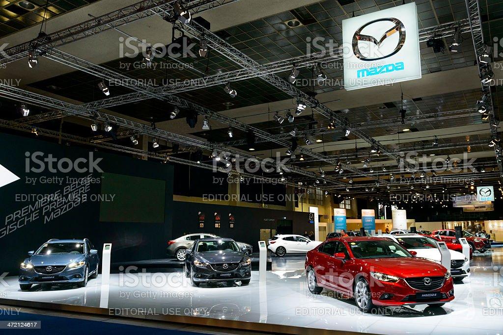 Mazda stand stock photo