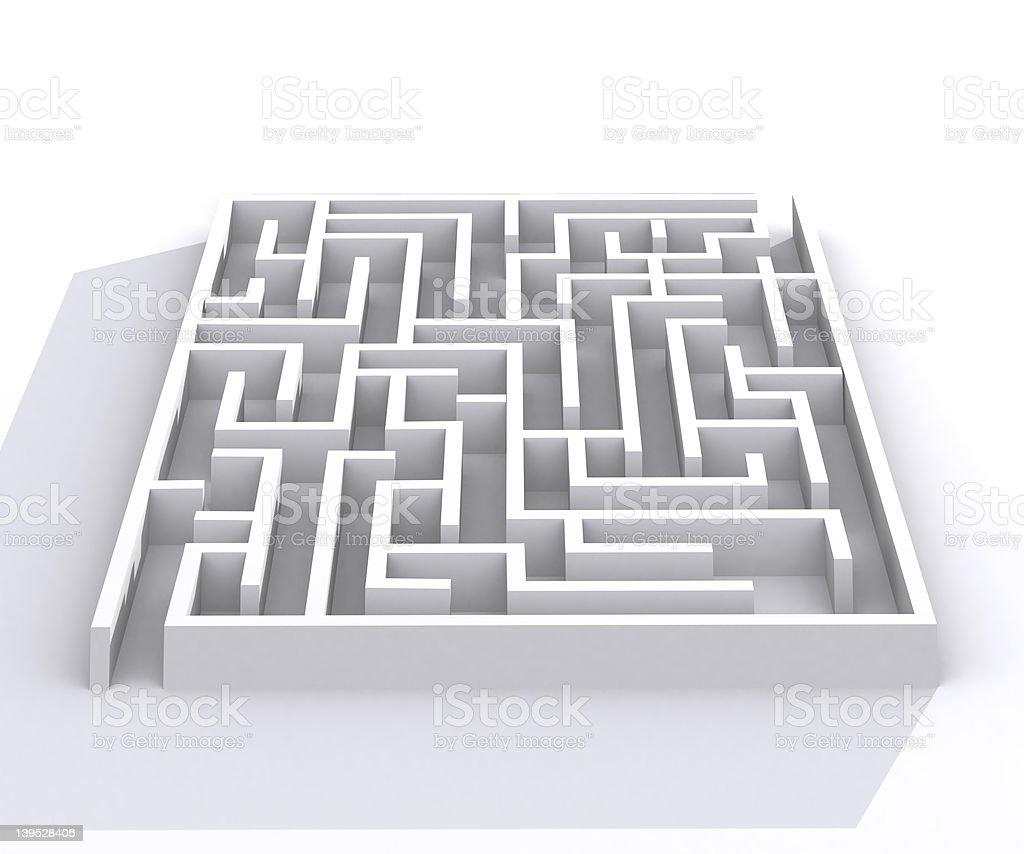 Maze 3 royalty-free stock photo