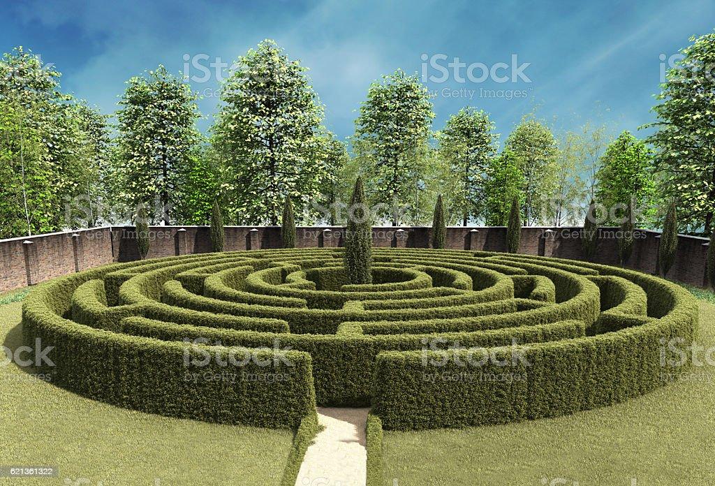 Maze - 3D illustration stock photo