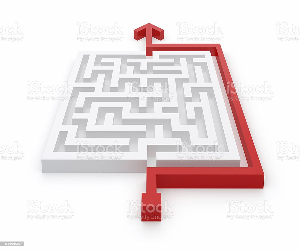 Maze Clever Solution stock photo