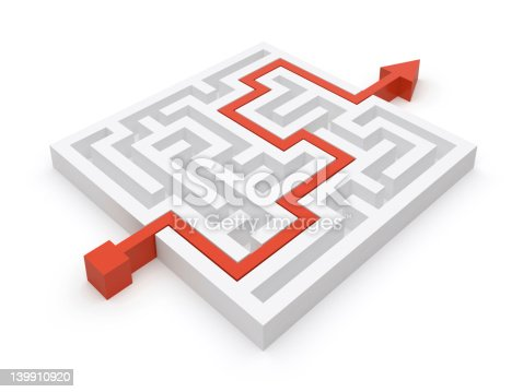 istock Maze clever solution 139910920