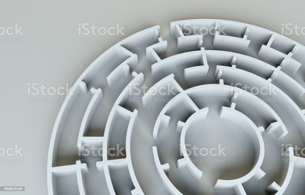 Close-up do labirinto. Plano de fundo cinza studio. Sombras realistas foto bonita - foto de acervo