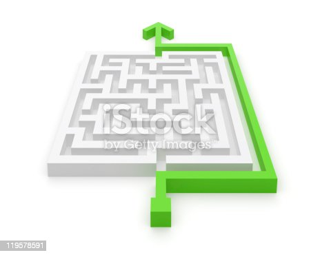 954744070 istock photo Maze Easy and Clever Solution 119578591