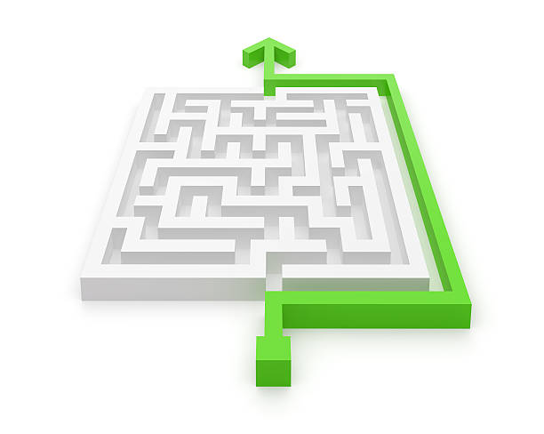 maze easy and clever solution - effortless stock photos and pictures