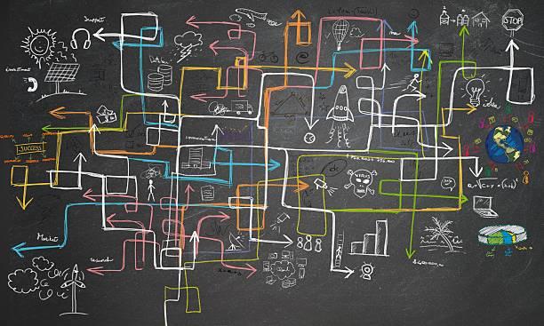 maze energy saving - diagram stock photos and pictures