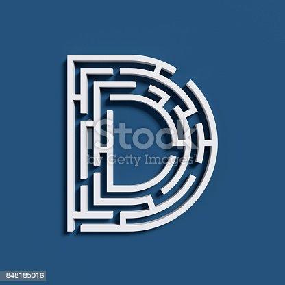 583978154istockphoto Maze font letter D 848185016