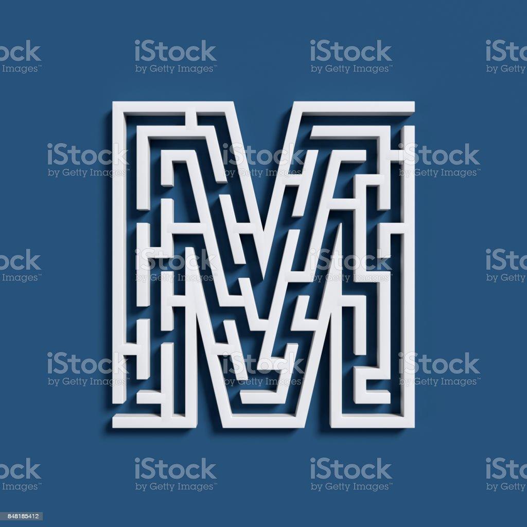 Labyrinth-Schriftart-Buchstabe M – Foto