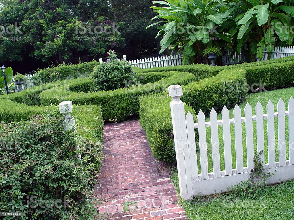 Maze Garden royalty-free stock photo