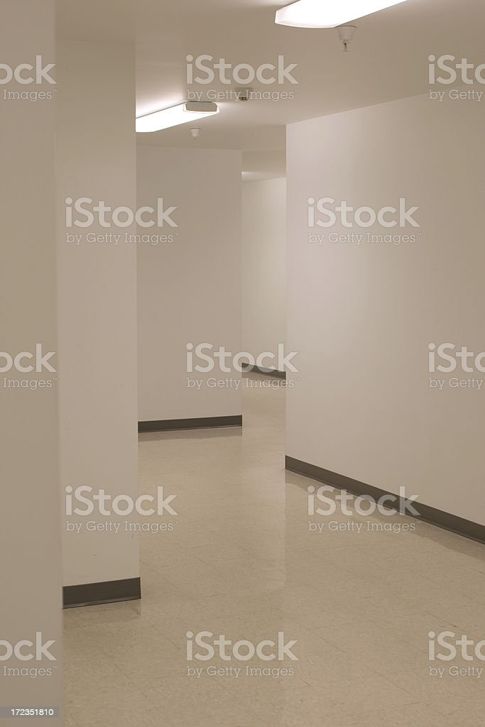 Maze in business hallway royalty-free stock photo
