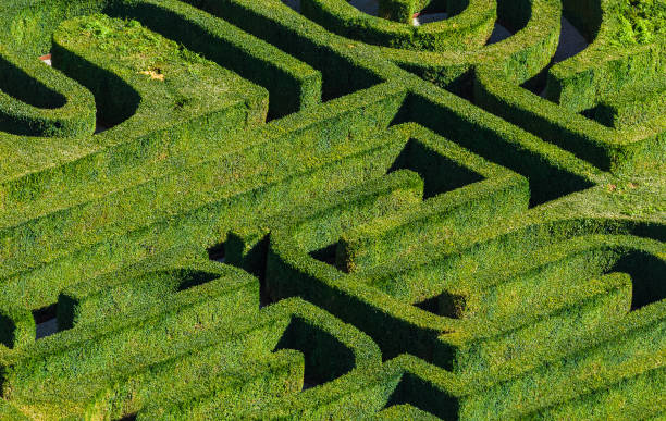 maze in venice italy - maze stock photos and pictures