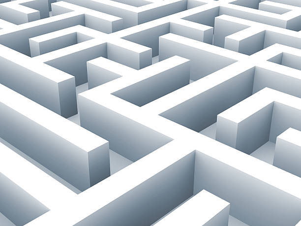 Labyrinth-labirynth. Problem-Konzept – Foto