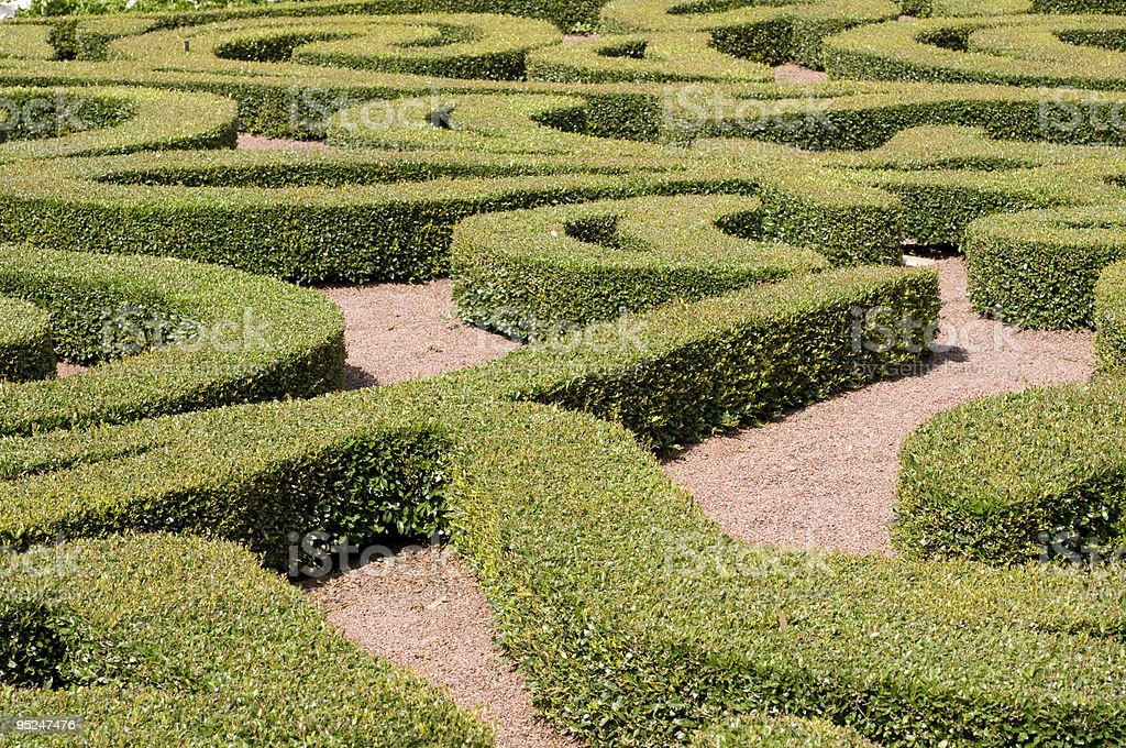 Maze Landscaping royalty-free stock photo