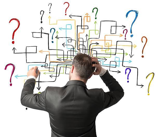 Labirinto di domande - foto stock