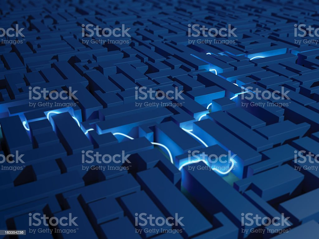 Maze stock photo