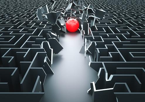 istock Maze: Shortcut 954744070