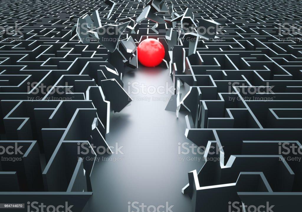 Maze: Shortcut stock photo
