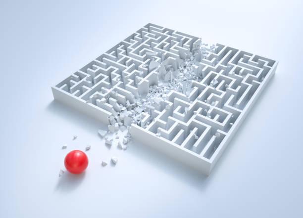 labirinto: collegamento - semplicità foto e immagini stock