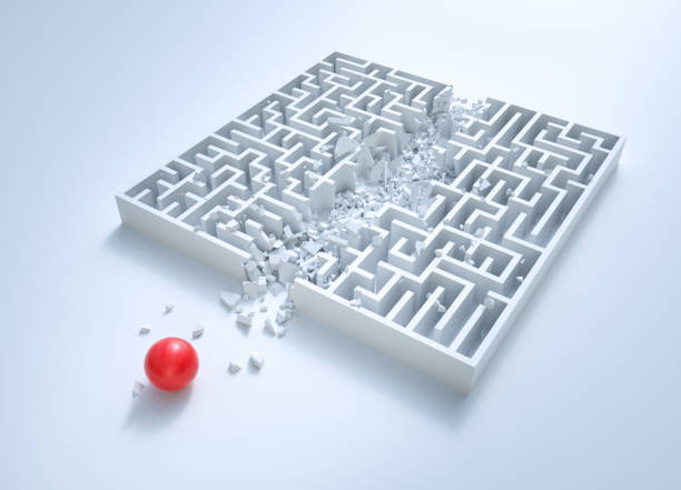 Maze: Shortcut stock photo