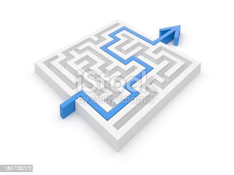 954744070 istock photo Maze Solution 184738273