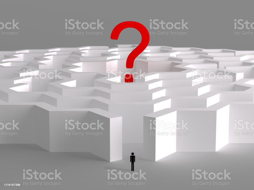 Maze The Solution And Leadership 3d Rendering Stock Photo Download Image Now Istock