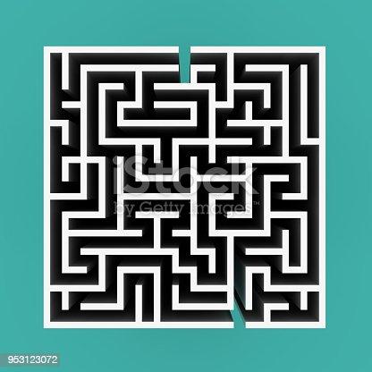 108688372 istock photo 3D Maze Top View - 3D Rendering 953123072
