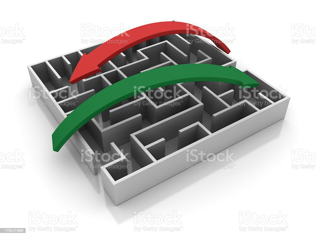 Maze with Arrows royalty-free stock photo
