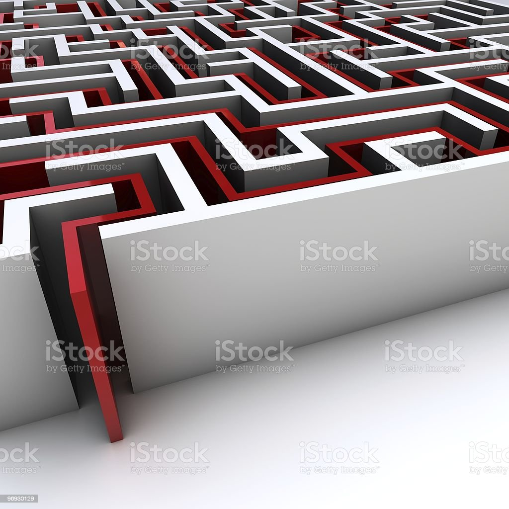 maze with exit path royalty-free stock photo