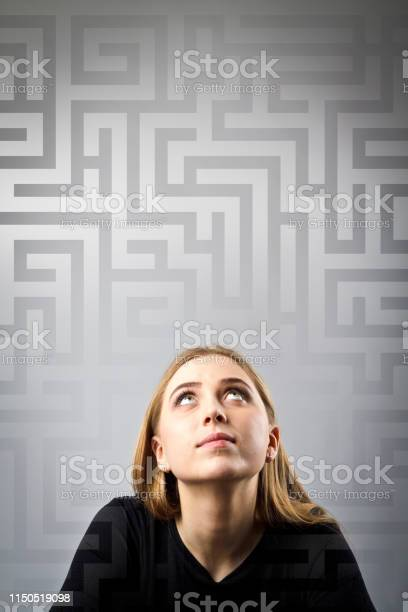 Maze young woman in black full of doubts and hesitation young woman picture id1150519098?b=1&k=6&m=1150519098&s=612x612&h=g0h hsotmcov vt8gxdsa4to8gmx3kvj7qgj7svwxka=