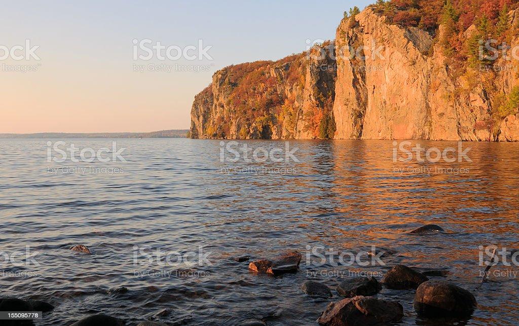 Mazinaw Rock At Sunset royalty-free stock photo