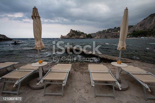 Mazzarò Beach in Taormina, Sicily