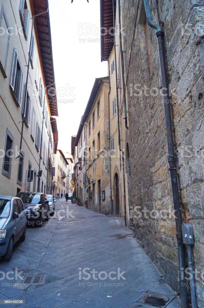 Mazzini street, Arezzo royalty-free stock photo