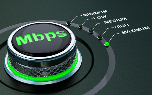 Mbps Knob Max Level Of Internet Speed 3d Rendering Stock ...
