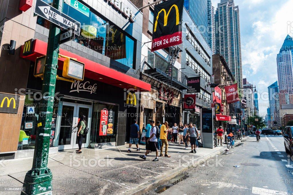 Mc マクドナルドマンハッタンの8番街ニューヨーク市アメリカ ...