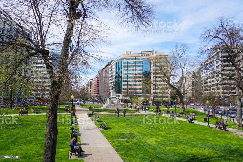 Mc Pherson Square Washington - WASHINGTON DC - COLUMBIA - APRIL 7, 2017 stock photo