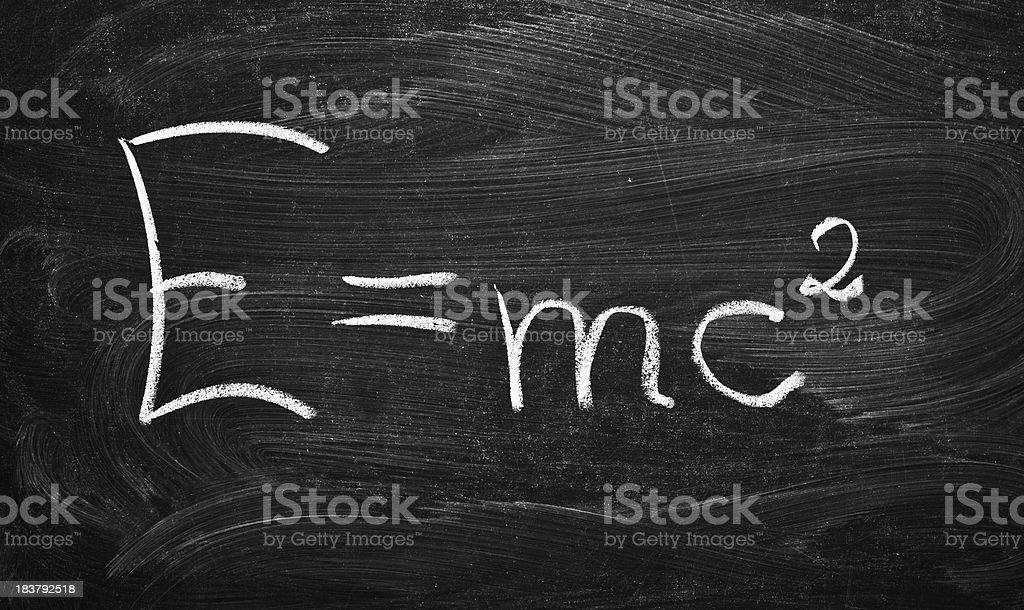 E=mc2 stock photo