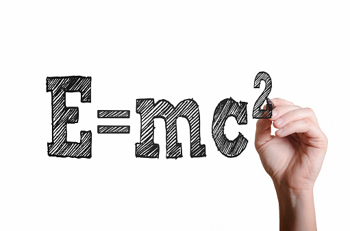 istock E=mc2. Theory of relativity concept. 846726986
