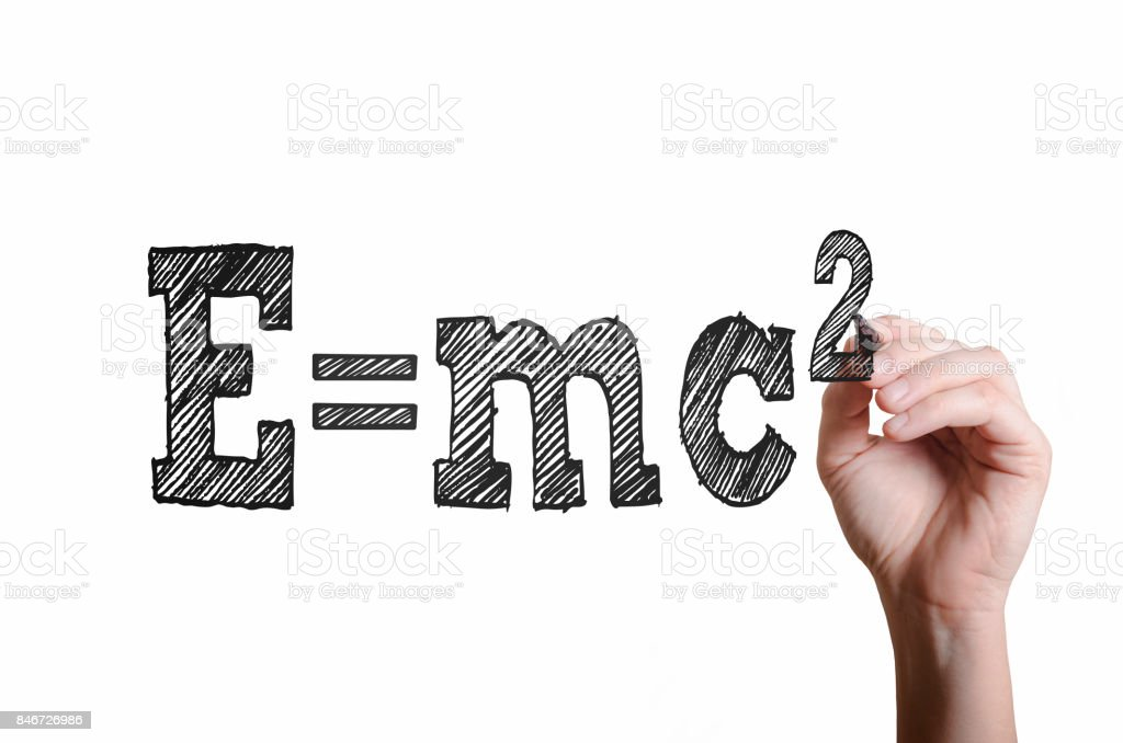E = mc2. Theorie der Relativität-Konzept. – Foto
