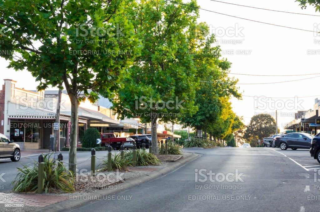 McCartin Street in Leongatha in South Gippsland, Australia. stock photo