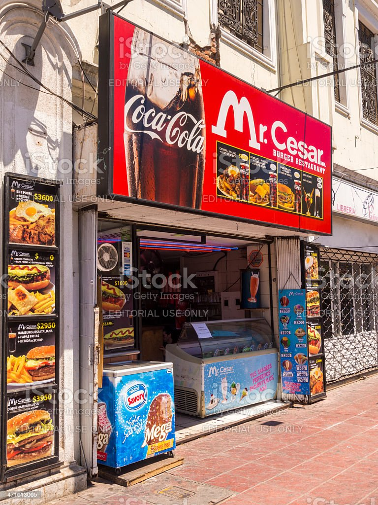 McCesar burger restaurant in Valparaiso, Chile royalty-free stock photo