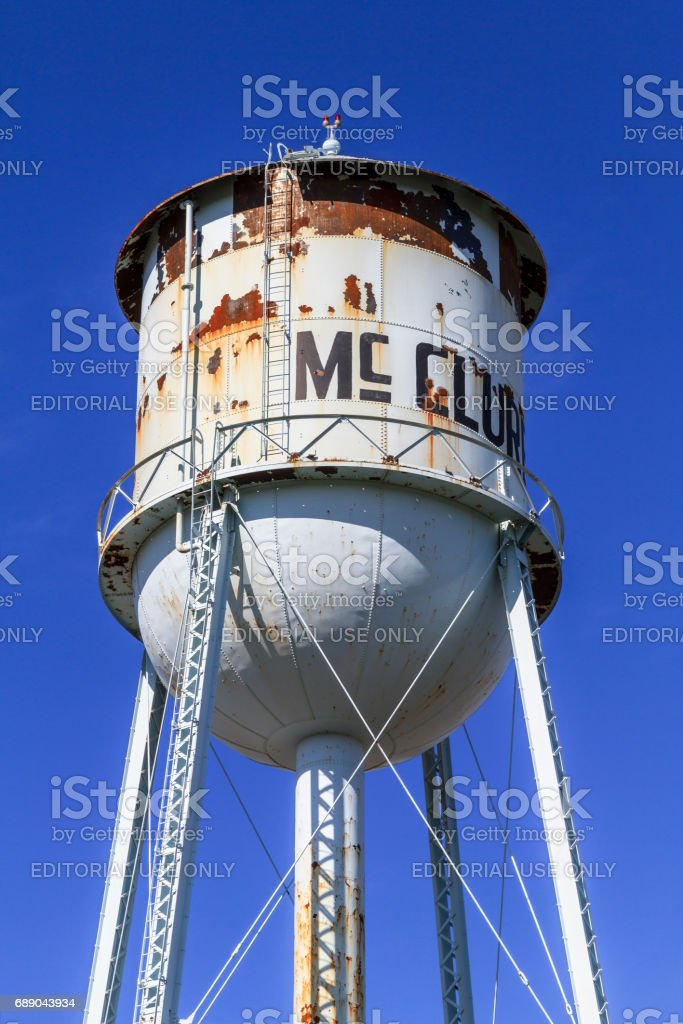 McClure Water Tower stock photo