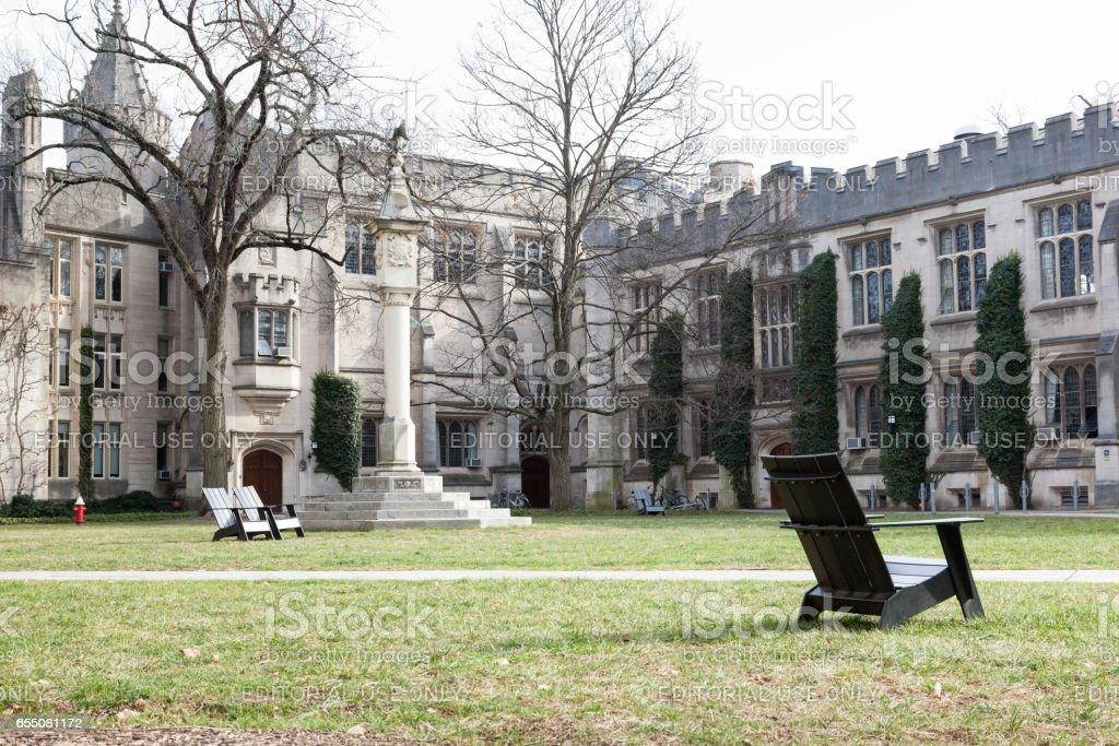 McCosh and Dickinson Halls at Princeton University stock photo