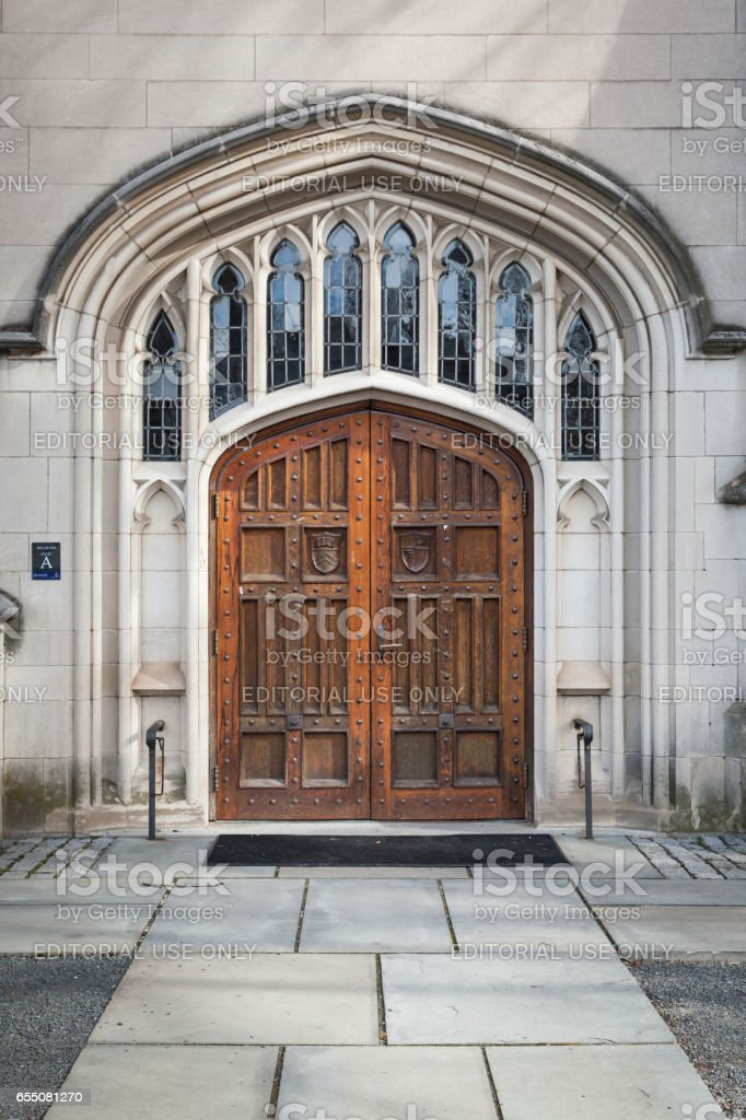 McCosh Hall Entrance at Princeton University stock photo