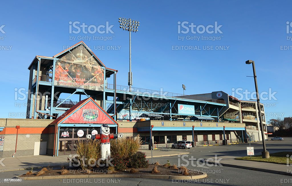 McCoy Stadium in Pawtucket home of the Pawtucket Red Sox stock photo