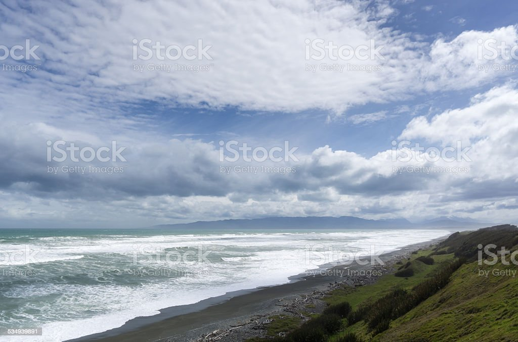 McCrackens Rest Black Sand stock photo