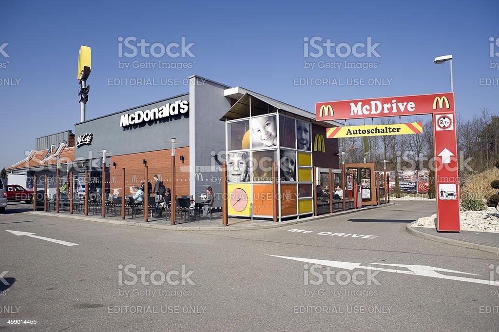 McDonald and McDrive, Ilsfeld, Germany stock photo