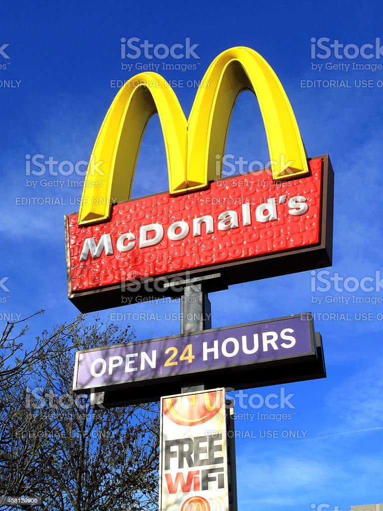 McDonald's Advertising Sign royalty-free stock photo
