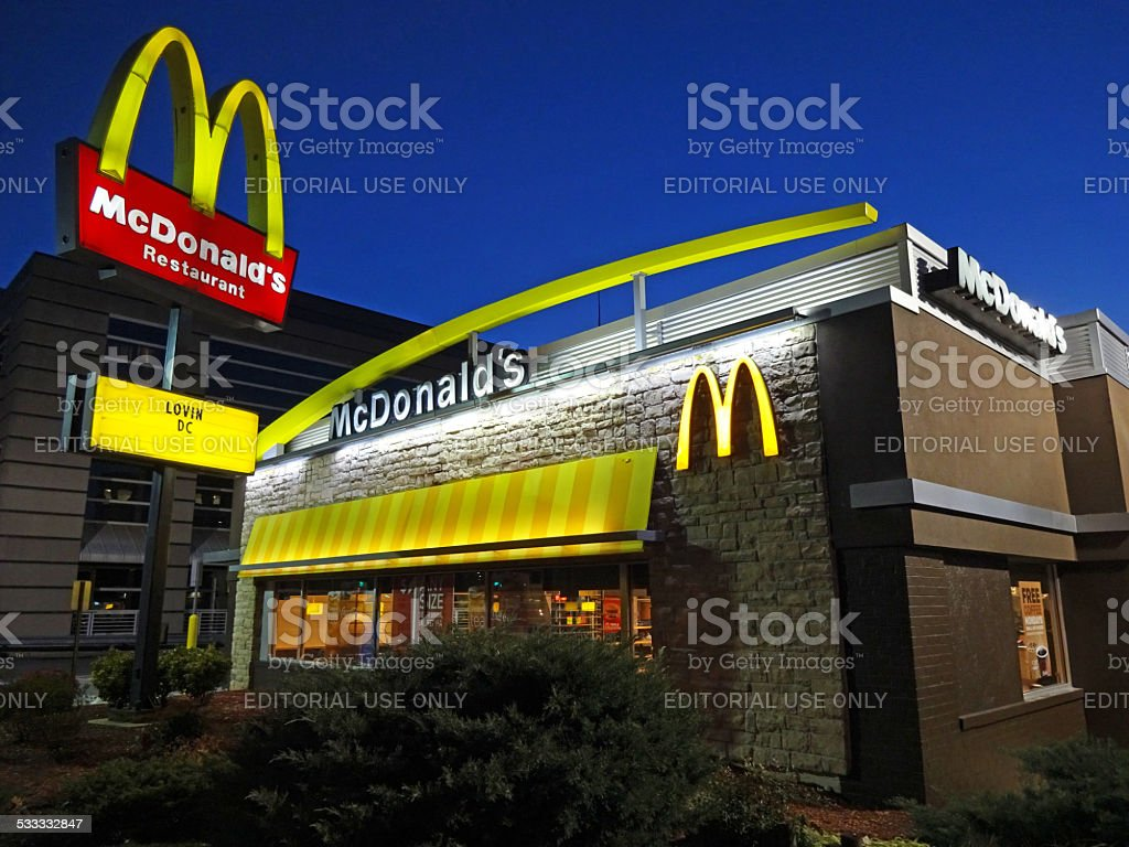 McDonald's Advertising Slogan stock photo